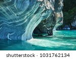 the marble caves of patagonia ... | Shutterstock . vector #1031762134