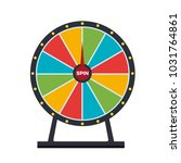 spinning wheel isolated on... | Shutterstock .eps vector #1031764861