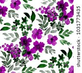 watercolor seamless pattern... | Shutterstock . vector #1031773435
