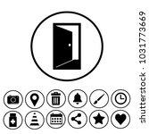 doorway sign icon | Shutterstock .eps vector #1031773669