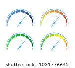 vector set of colored gauges...   Shutterstock .eps vector #1031776645