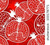 vector pomegranate pattern | Shutterstock .eps vector #103178771