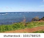 hawaiian landscapes  kauai ...   Shutterstock . vector #1031788525