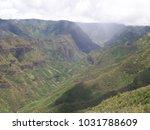 hawaiian landscapes  kauai ...   Shutterstock . vector #1031788609