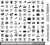 100 business person icons set... | Shutterstock . vector #1031788849