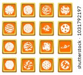 fantastic planets icons set in... | Shutterstock . vector #1031792197