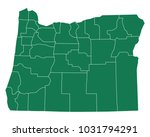 map of oregon | Shutterstock .eps vector #1031794291