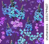 trendy floral pattern in the... | Shutterstock .eps vector #1031799607