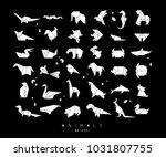 set of animals in flat style... | Shutterstock .eps vector #1031807755