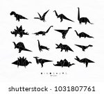 set of dinosaurs in flat... | Shutterstock .eps vector #1031807761