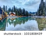 emerald lake reflections in the ... | Shutterstock . vector #1031808439