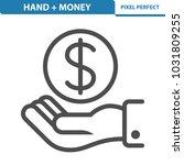 hand   money icon. professional ...   Shutterstock .eps vector #1031809255