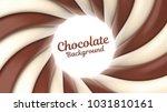 chocolate swirl vector... | Shutterstock .eps vector #1031810161