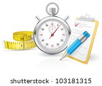 stopwatch with clipboard and... | Shutterstock .eps vector #103181315