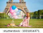 beautiful young woman in pink... | Shutterstock . vector #1031816371