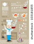 infographic food vector | Shutterstock .eps vector #103181855