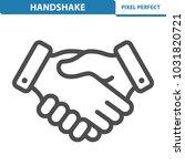 handshake icon. professional ... | Shutterstock .eps vector #1031820721