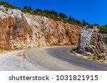 picturesque mountain road in... | Shutterstock . vector #1031821915