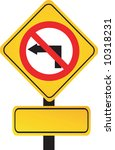 arrow printed yellow sign... | Shutterstock .eps vector #10318231