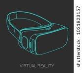 vr headset vector | Shutterstock .eps vector #1031823157