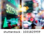 stock market display in the... | Shutterstock . vector #1031825959