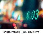 stock market display in the... | Shutterstock . vector #1031826295