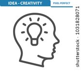 idea   creativity icon.... | Shutterstock .eps vector #1031828071