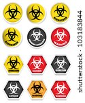 biohazard stickers   labels | Shutterstock .eps vector #103183844
