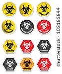 biohazard stickers   labels | Shutterstock .eps vector #103183844