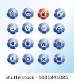 set of internet icons designed ... | Shutterstock .eps vector #1031841085