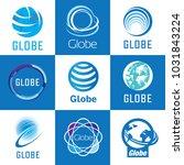 globe logo set | Shutterstock .eps vector #1031843224