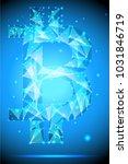 bitcoin  low poly design ...   Shutterstock .eps vector #1031846719