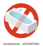 prohibition of bathtub filled... | Shutterstock .eps vector #1031847001