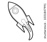 isolated rocket design | Shutterstock .eps vector #1031847991