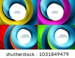 set of spiral swirl line... | Shutterstock .eps vector #1031849479