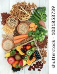 health food for a high fibre... | Shutterstock . vector #1031853739
