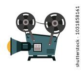 35mm movie camcorder | Shutterstock .eps vector #1031858161