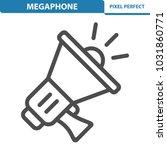 megaphone icon. professional ... | Shutterstock .eps vector #1031860771