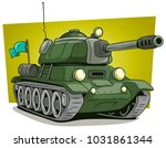 cartoon green military army... | Shutterstock .eps vector #1031861344