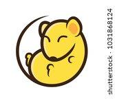 dormouse cute mascot logo... | Shutterstock .eps vector #1031868124
