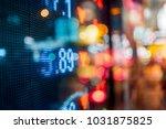 stock market board at night | Shutterstock . vector #1031875825
