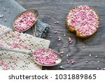 flat lay breakfast scene with... | Shutterstock . vector #1031889865