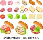 set of ingredients to create... | Shutterstock .eps vector #1031895577