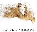 dry river sand explosion | Shutterstock . vector #1031895919