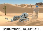 Human Skeleton In The Desert....