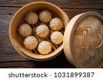 steamed pork buns recipe in... | Shutterstock . vector #1031899387