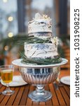 wedding cake and details. naked ... | Shutterstock . vector #1031908225