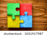 Four Wooden Jigsaw Puzzle...