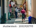 yangon  myanmar   feb 19th 2014 ... | Shutterstock . vector #1031920795