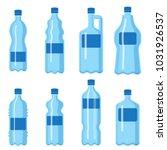 plastic water bottle vector...   Shutterstock .eps vector #1031926537
